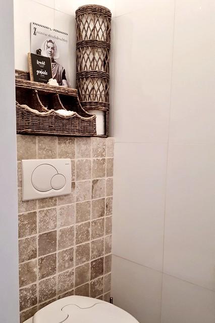 Toilet landelijke rotan accessoires