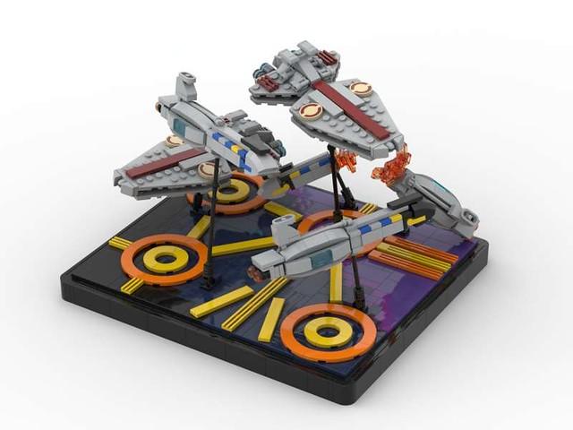 Lego Star Wars Battle Over Coruscant MOC