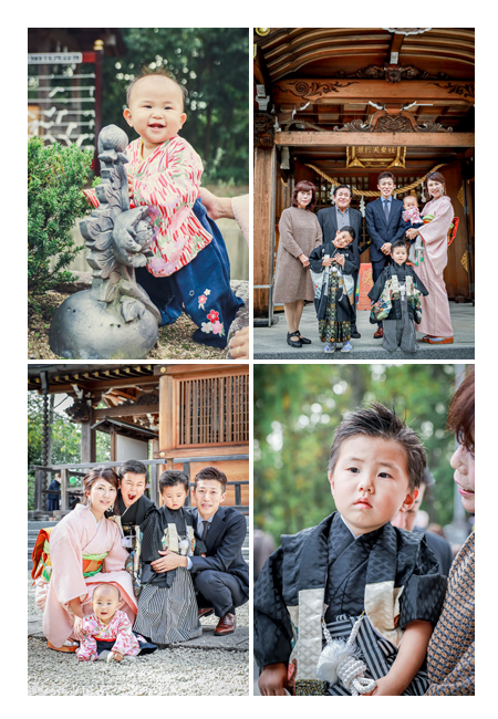 七五三 家族の写真 妹ちゃんも袴ロンパースの衣装