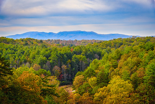 murphy northcarolina unitedstates fieldsofthewood burgermountain mountains landscape fallcolor trees tencommandmentmountain