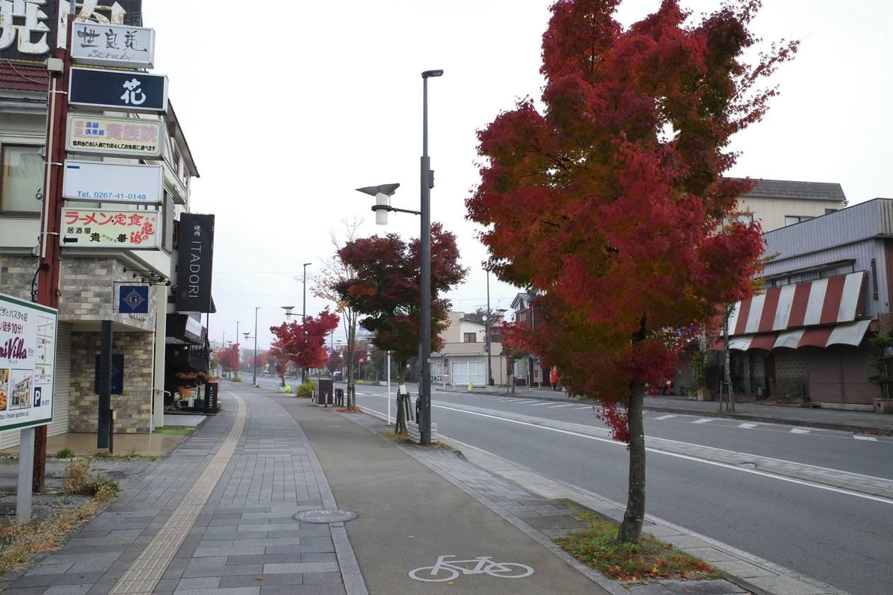 軽井沢駅前通りの紅葉