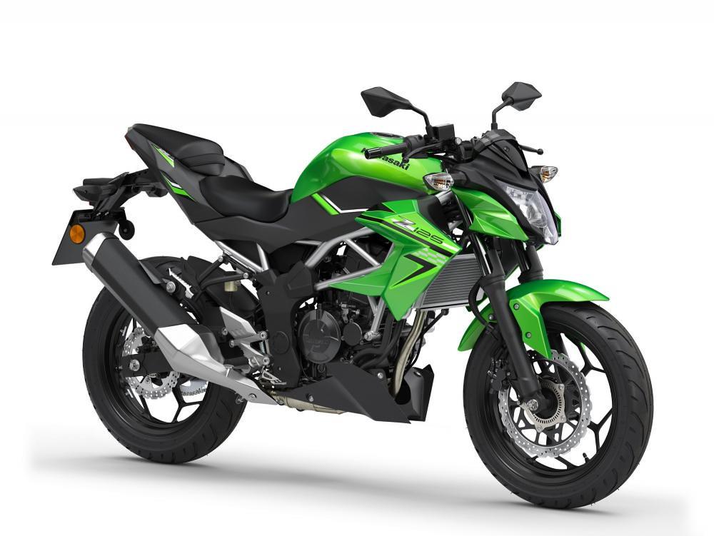 New Kawasaki Z125 2021 Candy Lime Green