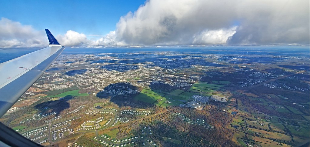Flying over Virginia