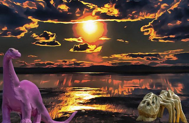 Prehistoric Sunset on the Marsh