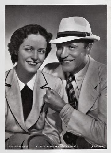 Maria von Tasnady and Willy Fritsch in Menschen ohne Vaterland (1937)