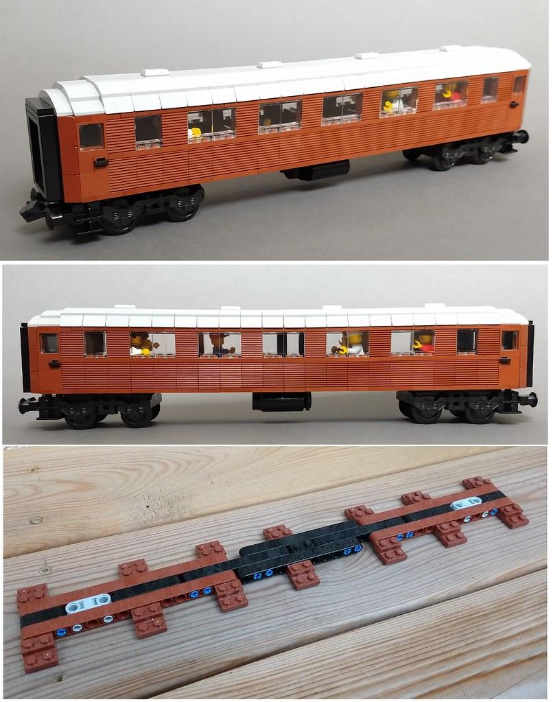 Swedish SJ personvagn (coach) 7*48 studs