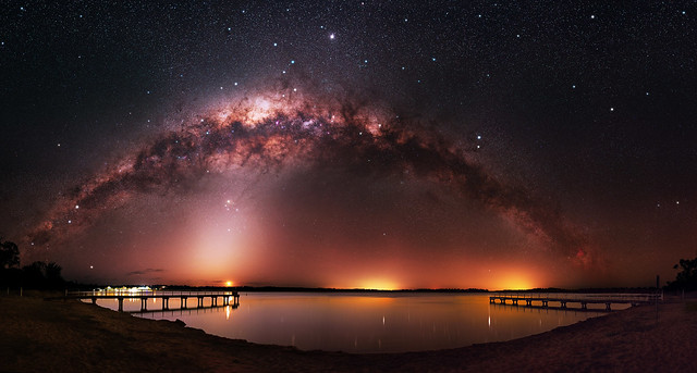 Milky Way & Zodiacal Light at Lake Towerrinning, Western Australia