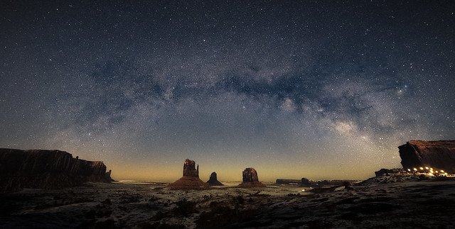 Monument Valley under the milky way...