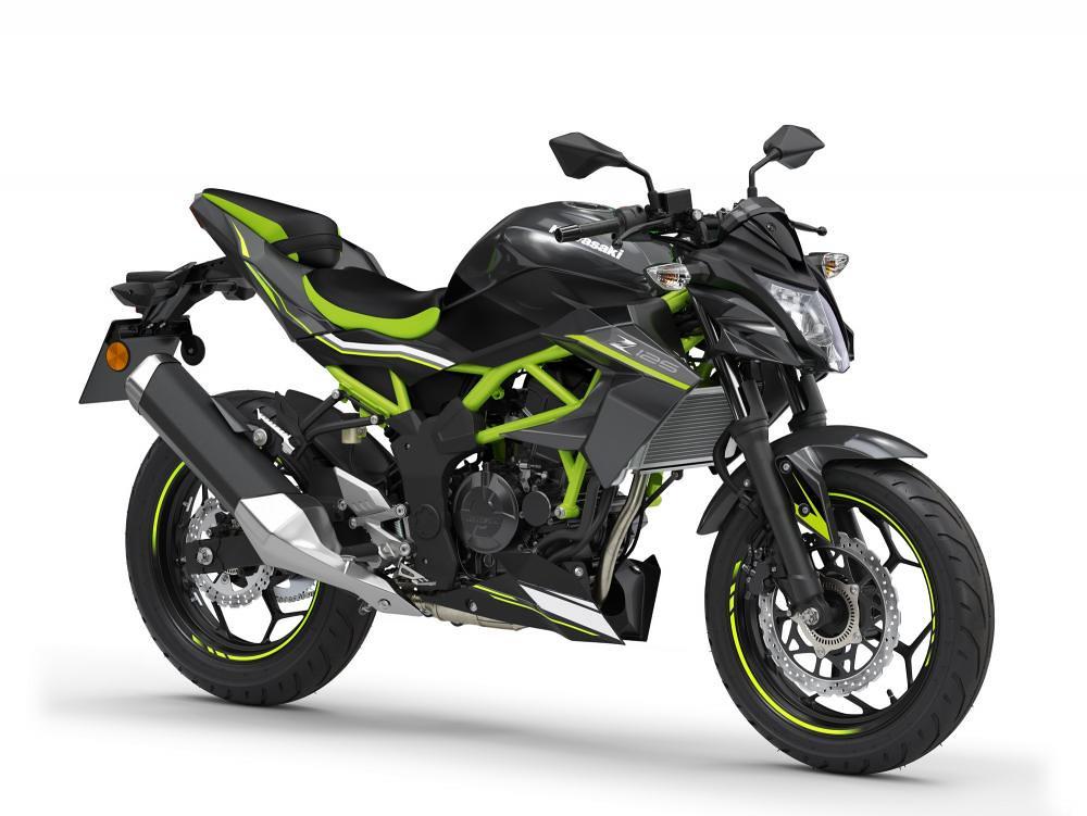 New Kawasaki Z125 2021 Metallic Flat Spark Black