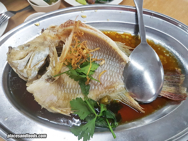 restoran siaw kwee steamed fish with ginger