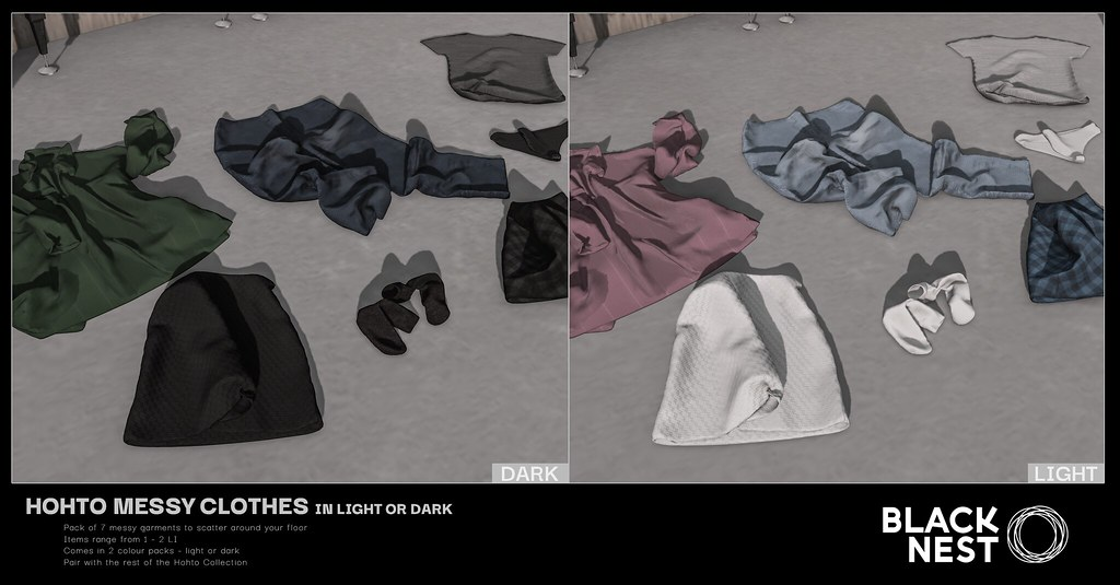 BLACK NEST / Hohto Messy Clothes / Fifty Linden Friday