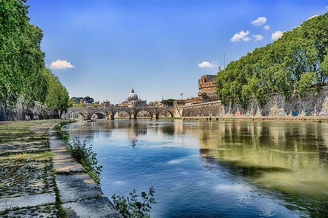 Daytime on the River Tiber.