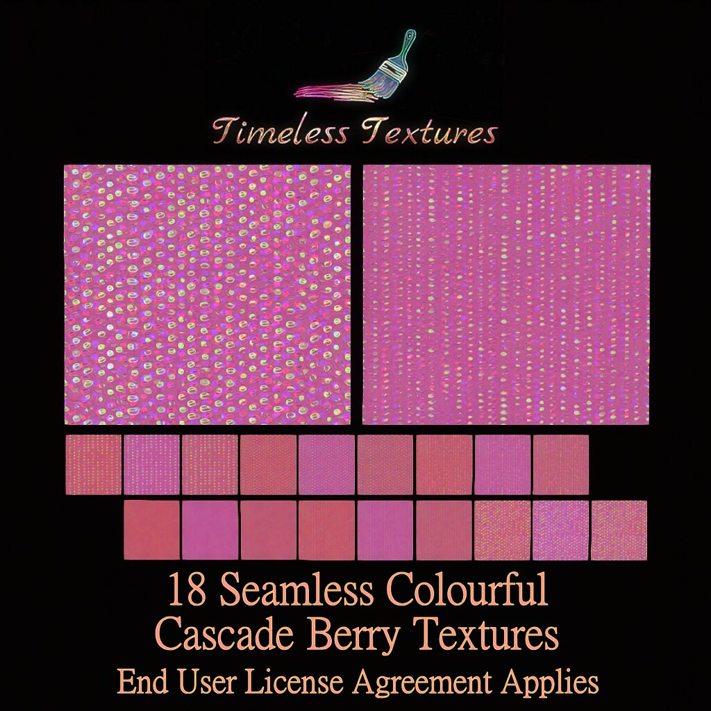 TT 18 Seamless Colourful Cascade Berry Timeless Textures ++