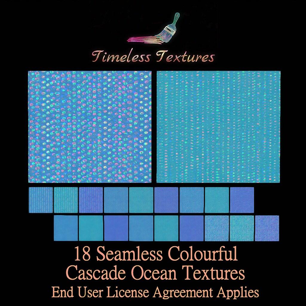 TT 18 Seamless Colourful Cascade Ocean Timeless Textures ++
