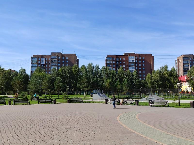 Белово - Многоэтажки рядом с парком Молодежным