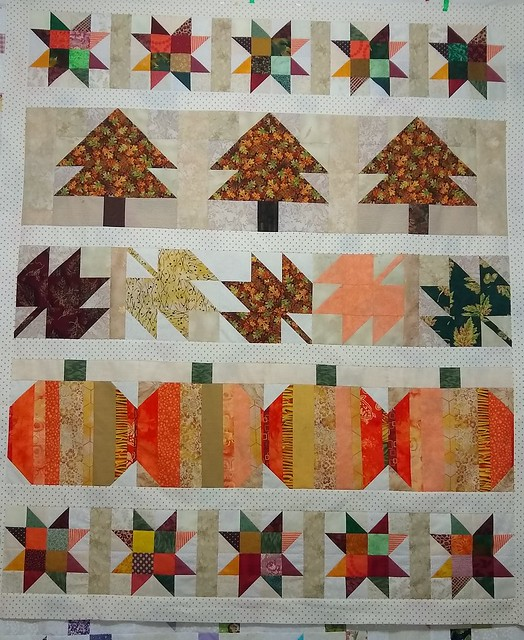 Row quilt for #Autumn Jubilee 2020