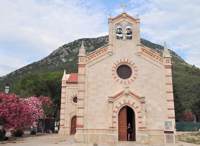 Eglise St Blaise, Ston, péninsule de Pelješac, comitat de Dubrovnik-Neretva, Dalmatie, Croatie.