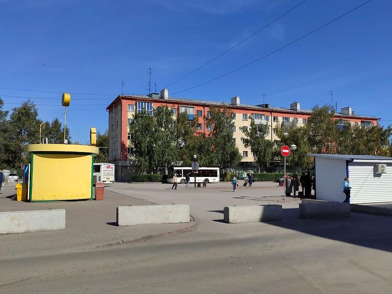 Белово - Посадочные площадки для автобусов