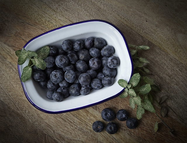 Sweet and luscious blueberries