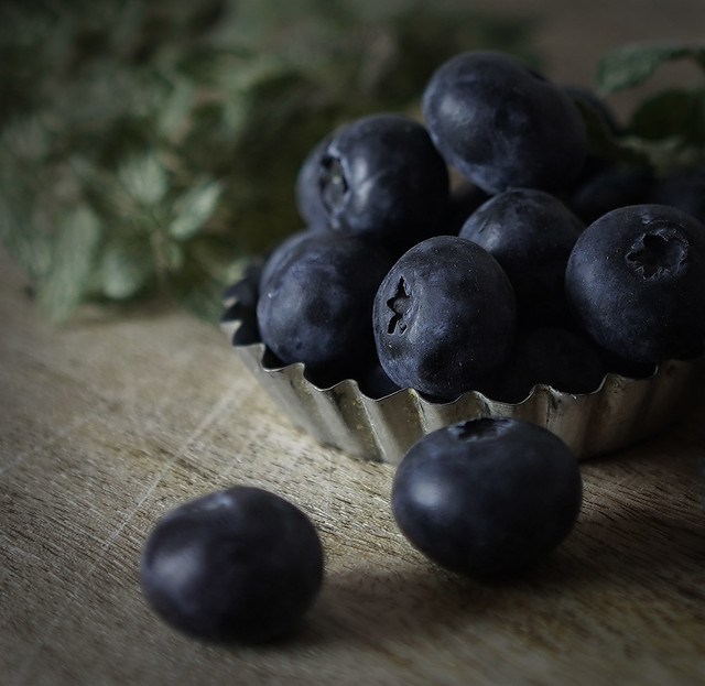 Luscious and sweet blueberries