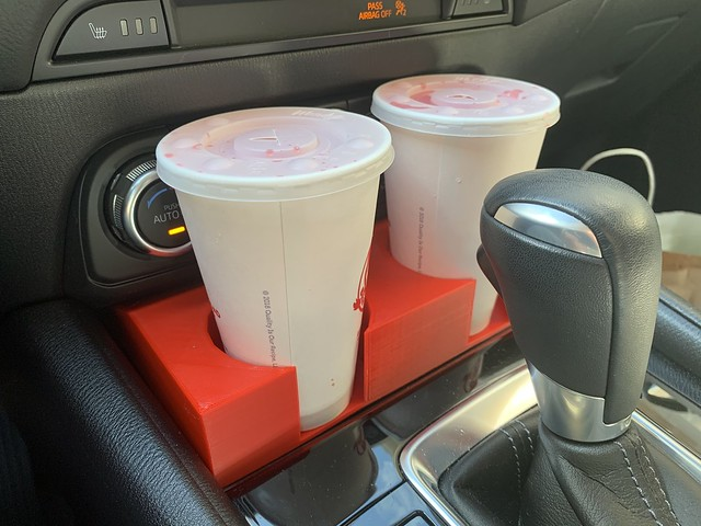 Extra Car Cup Holders - In Use
