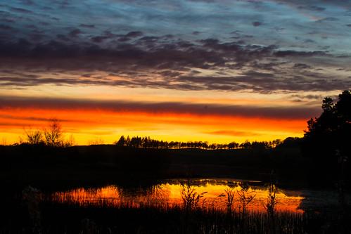 selkirk sunset scotland scottishborders lindenloch scottish red sky