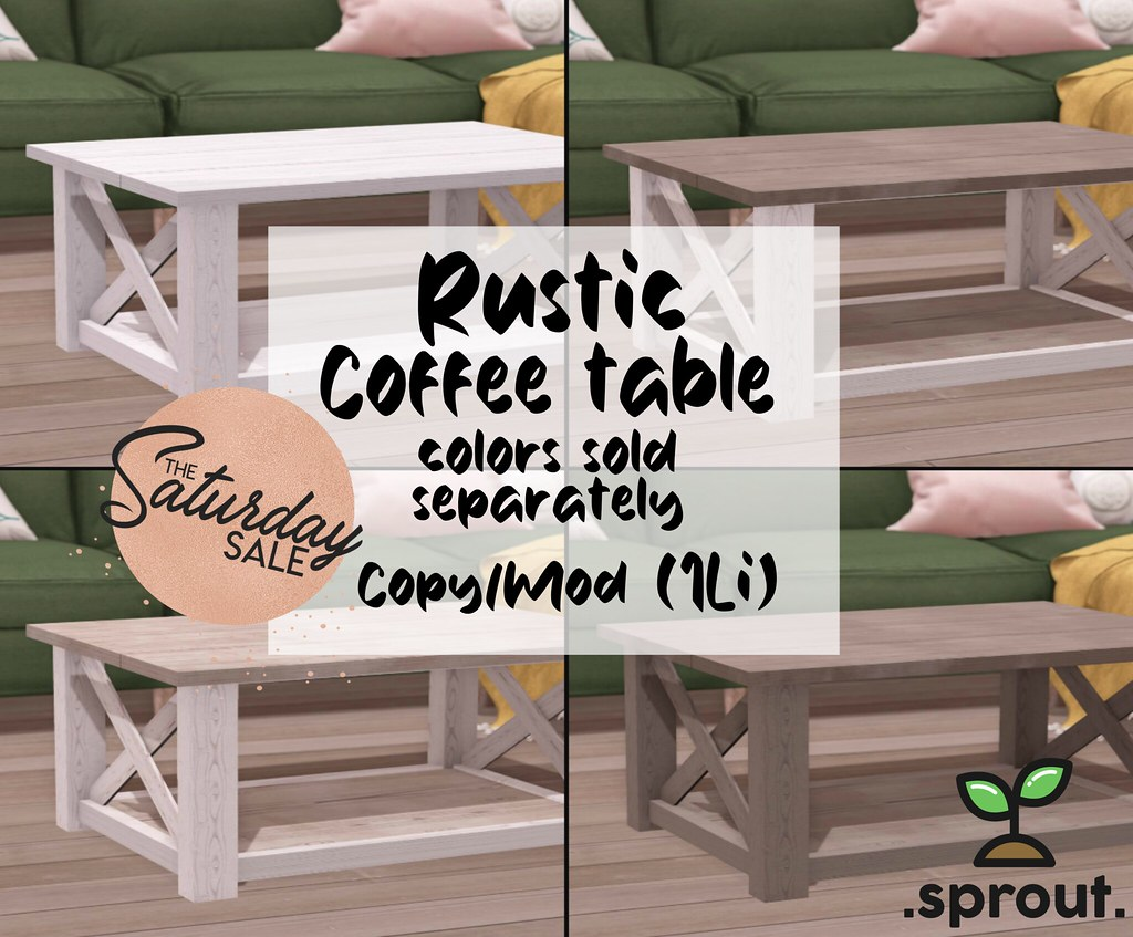 .sprout. rustic coffee tables AD
