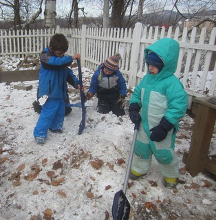 chopping up their snow pile | by lyn.schmucker