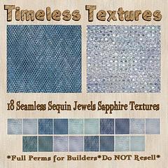 TT 18 Seamless Sequin Jewels Sapphire Timeless Textures