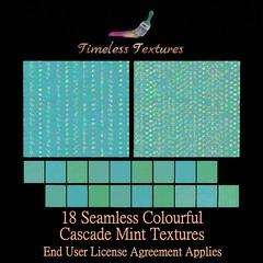 TT 18 Seamless Colourful Cascade Mint Timeless Textures ++
