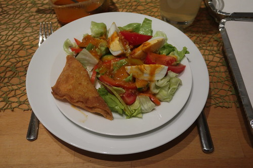 Thailändischer Salat mit Ei (mein Anteil)