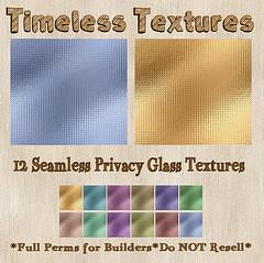 TT 12 Seamless Privacy Glass Timeless Textures