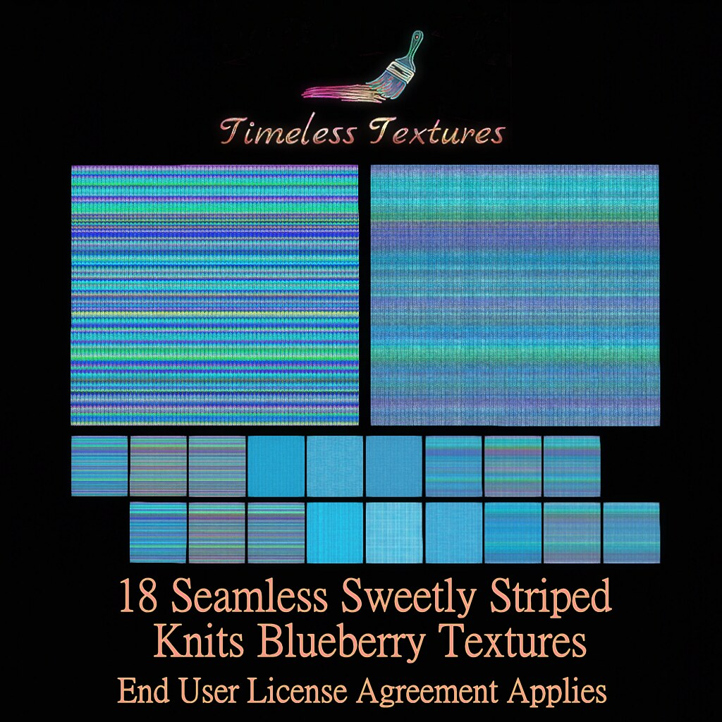 TT 18 Seamless Sweetly Striped Knits Blueberry Timeless Textures ++