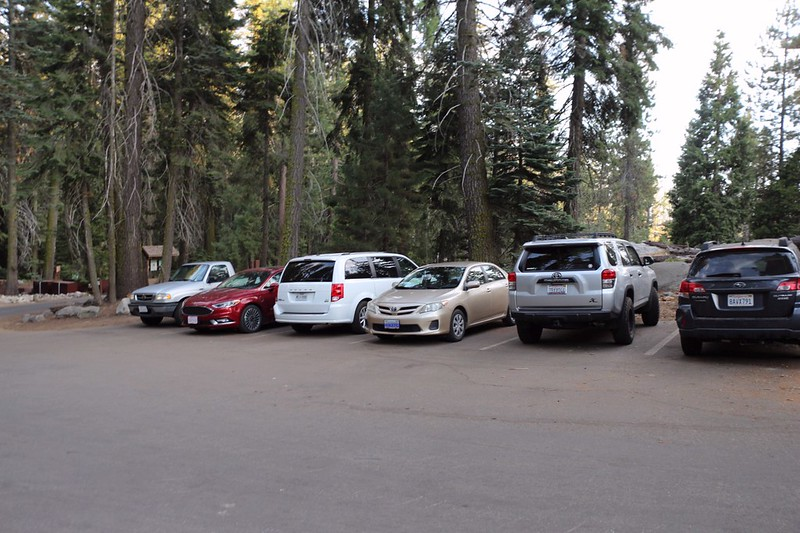 We dropped off Vicki's car at the Crescent Meadow Trailhead of the High Sierra Trail in Sequoia National Park