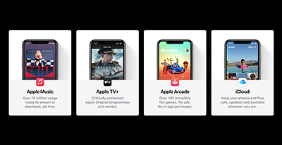 Access four services Apple Music, Apple TV+, Apple Arcade, and iCloud storage with a single Apple One subscription.
