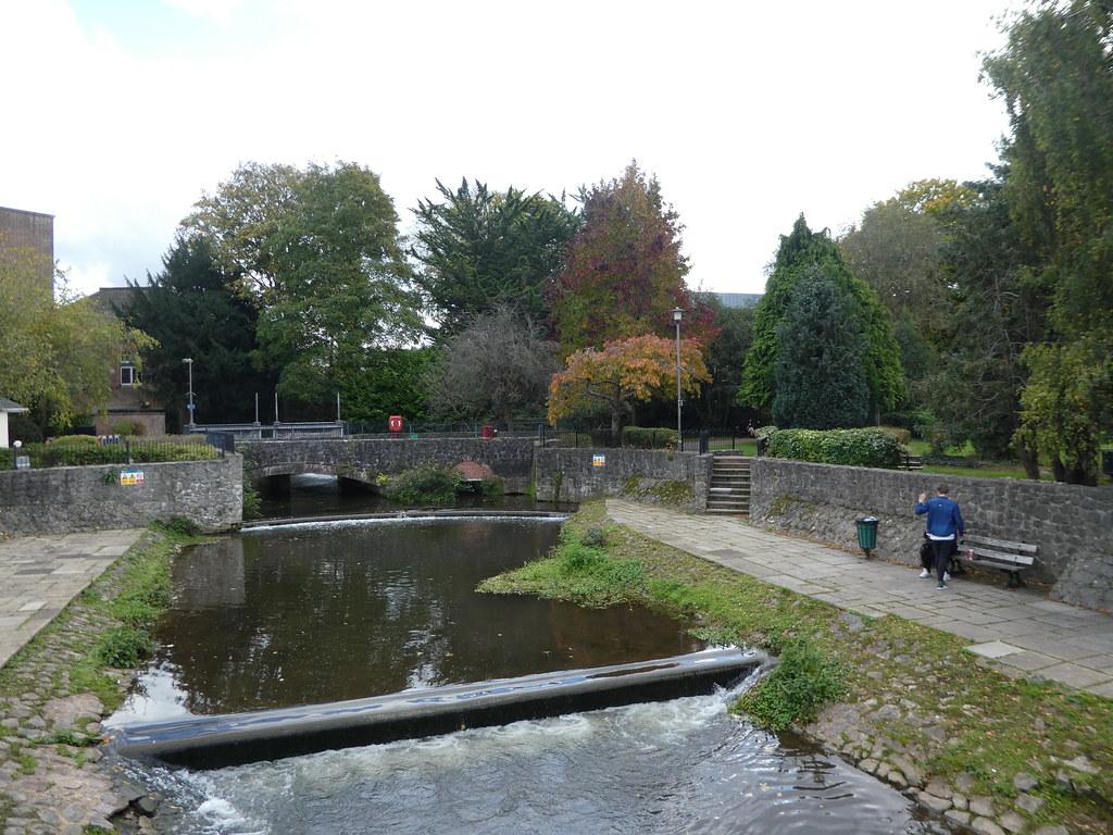 Mill stream in Goodland Gardens, Taunton