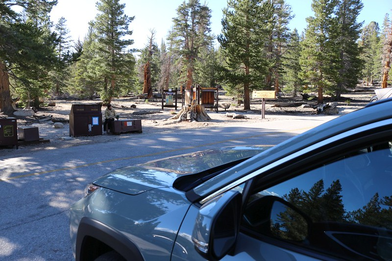 We spent two nights in Horseshoe Meadows in the Rav4, acclimating to elevation at the Cottonwood Pass Trailhead