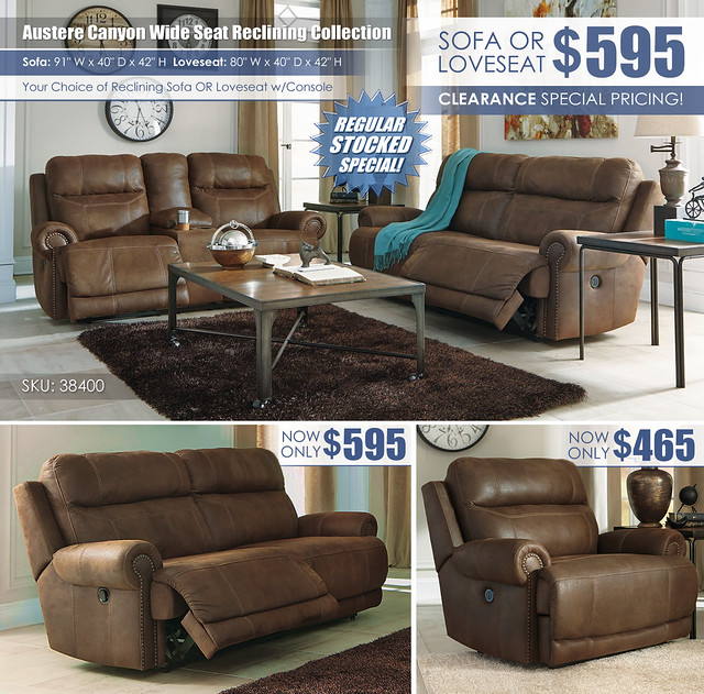 Austere Canyon Reclining Sofa OR Loveseat_38400_Layout
