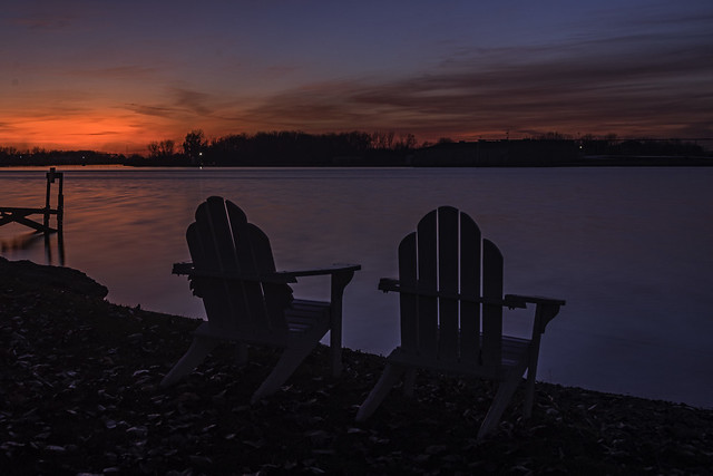 gorgeous sunset over the Saginaw River at Smith Park, Essexville.(in-explore)
