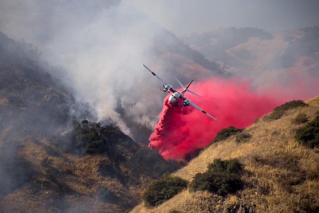 San Dimas Canyon fire