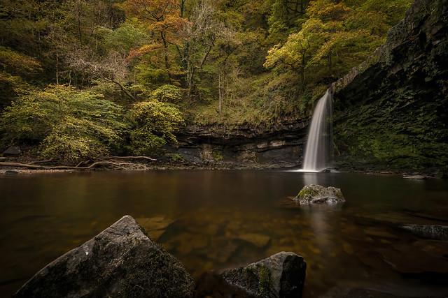 Sgwd Gwladys in the autumn.