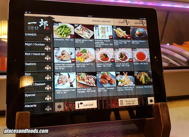 ichiro sushi bar order