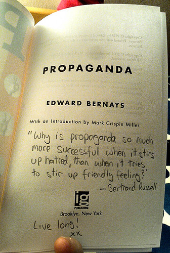 Bertrand Russell quote on propaganda | by runningwithbulls.com