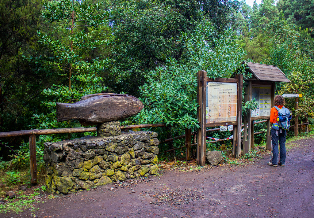 Paneles de la zona recreativa Hoya del Abade