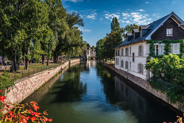 Strasbourg - Houses along a Canal