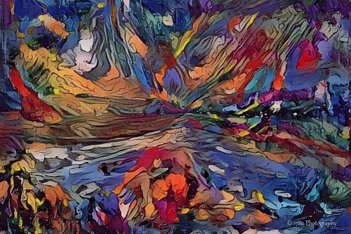 thegreatoutdoors outside nature mountains water lakes lochs trees grass colours multicoloured impressionist abstract expressionist scenic outdoor shapes design art artwork escapade psychedelic experimental progressive earth spacial