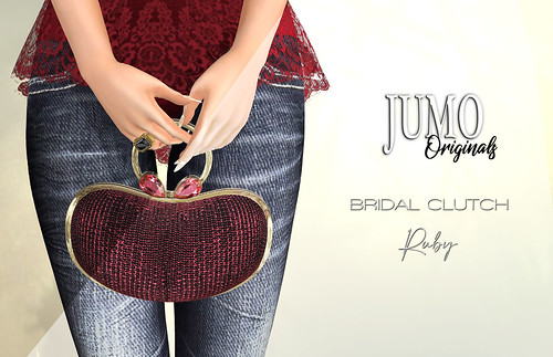 BRIDAL Clutch Ruby