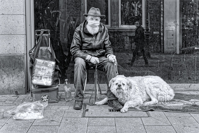 TWO FRIENDS ON THE STREET