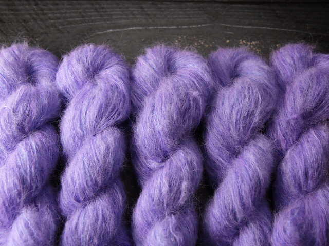 Fuzzy Lace – Brushed Baby Suri Alpaca & Silk hand dyed yarn 25g – 'Ethereal'