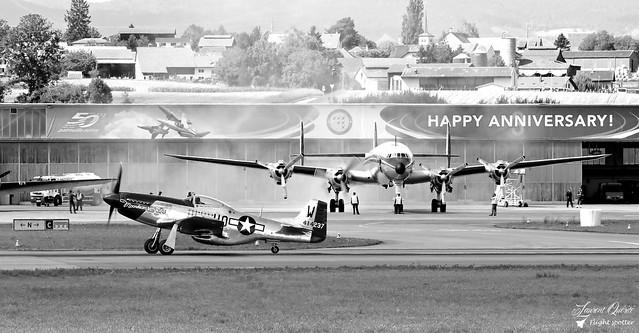 F-AZXS - 414237 HO-W - North American P-51D Mustang / HB-RSC - Lockheed C-121C Super Constellation
